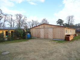 Neue Lager- und Abbundhalle